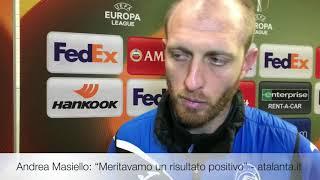 UEL BVB-Atalanta, Andrea Masiello: