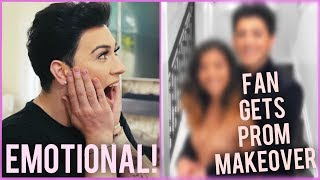 I GAVE A SUBSCRIBER A MAKEOVER FOR PROM!