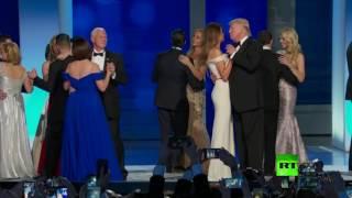 أول رقصة لترامب بعد تنصيبه كرئيس للولايات المتحدة الأمريكية  