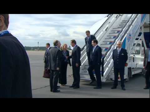 World leaders arrive for the G20 conference in Russia