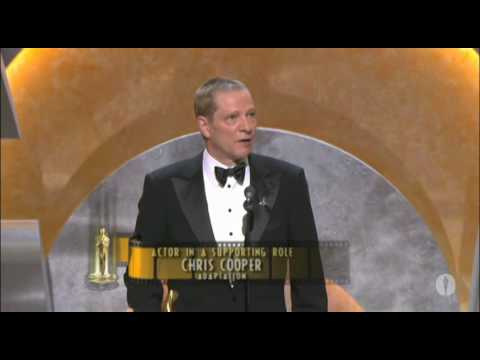 Chris Cooper winning an Oscar®  for