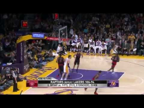 Analysis of Kobe's Return | Toronto Raptors vs LA Lakers | December 8, 2013 | NBA 2013-14 Season