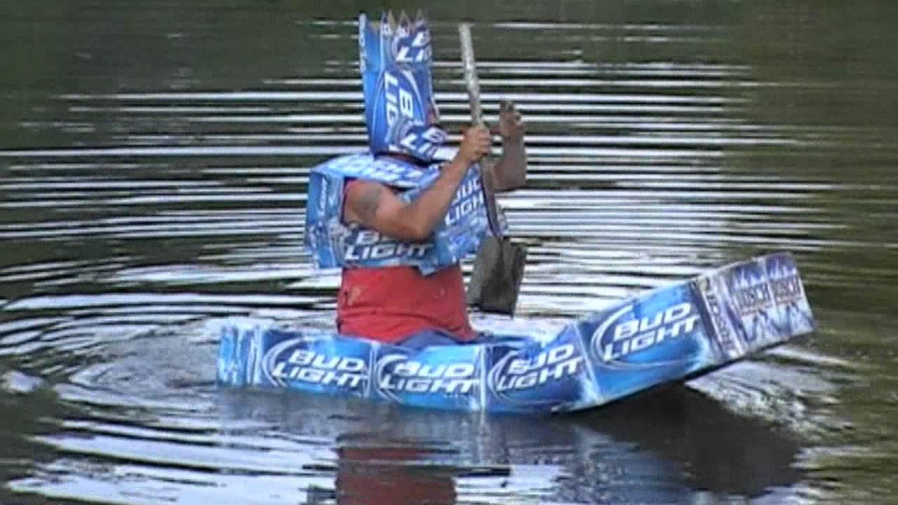 Redneck Bud Light Boat Challenge Youtube