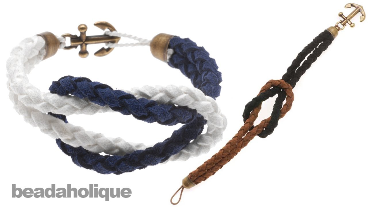 How To Make A Knotted Round Braid Anchor Bracelet Youtube