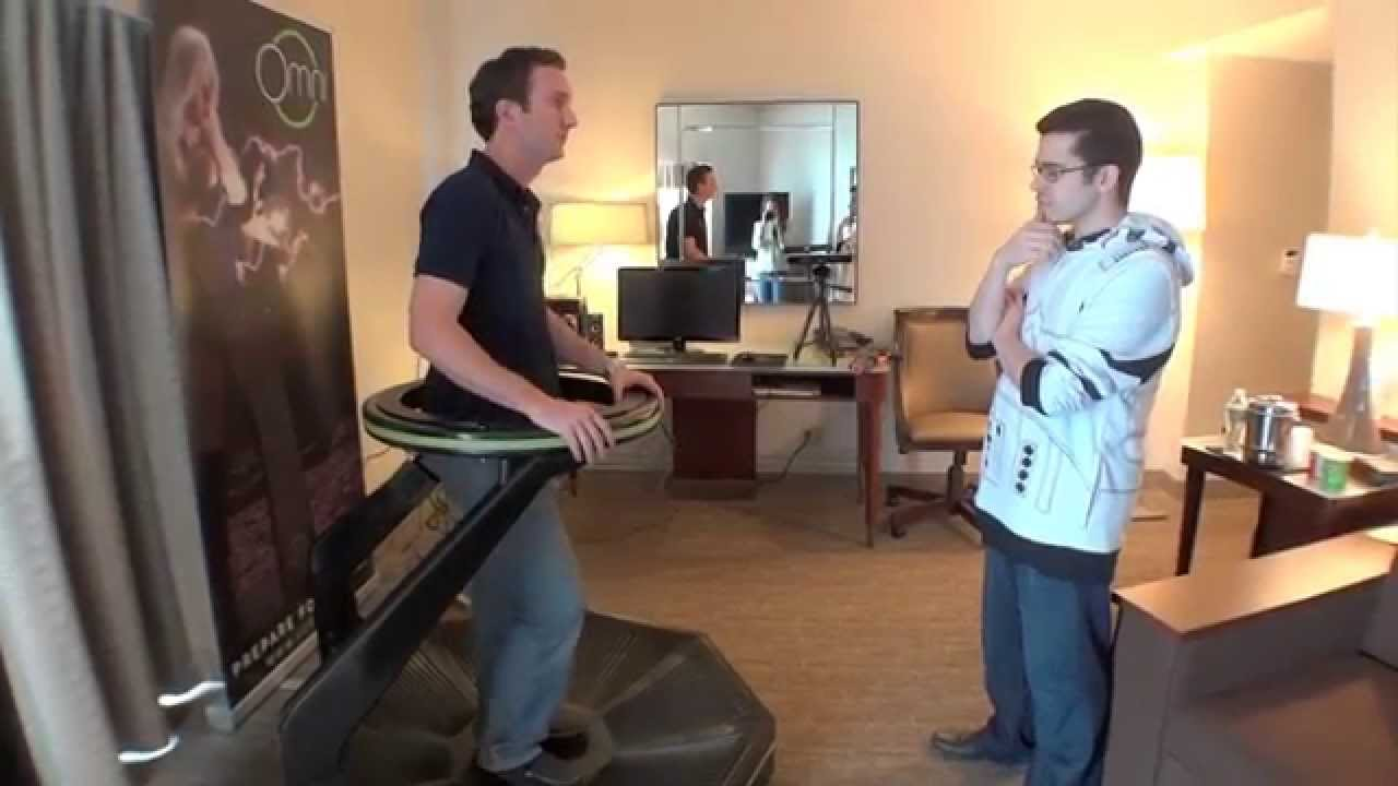 Omni Treadmill Oculus Rift As Real As Vr Gets Youtube
