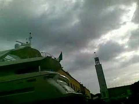 Trasporto mega yacht a Sabaudia Part II