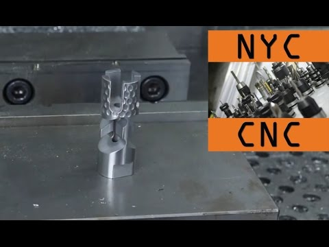 Machining a 9MM AR-15 Muzzle Brake! Follow Up Video on Dimples