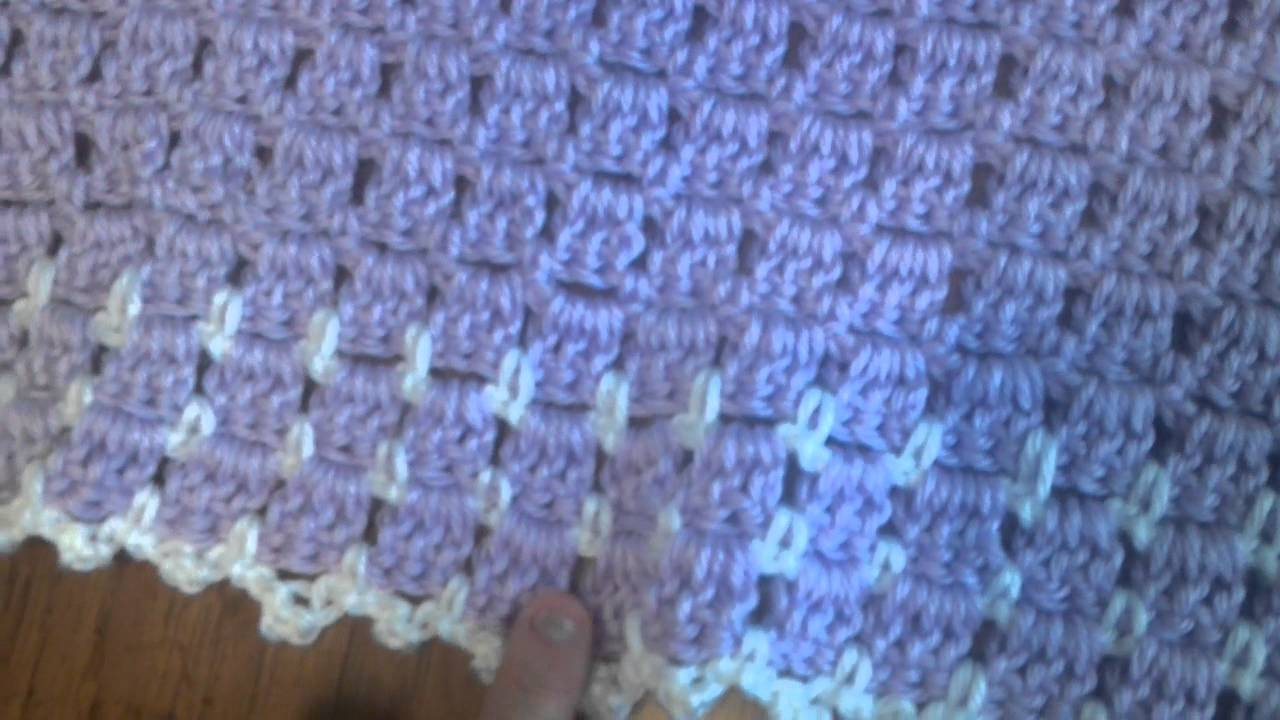 Youtube Crocheting Baby Blanket : Crochet baby blanket made by Jenn Zamora - YouTube