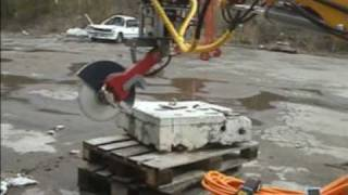 Angle Grinder Cutting Concrete, Steelpipe,etc .mpg