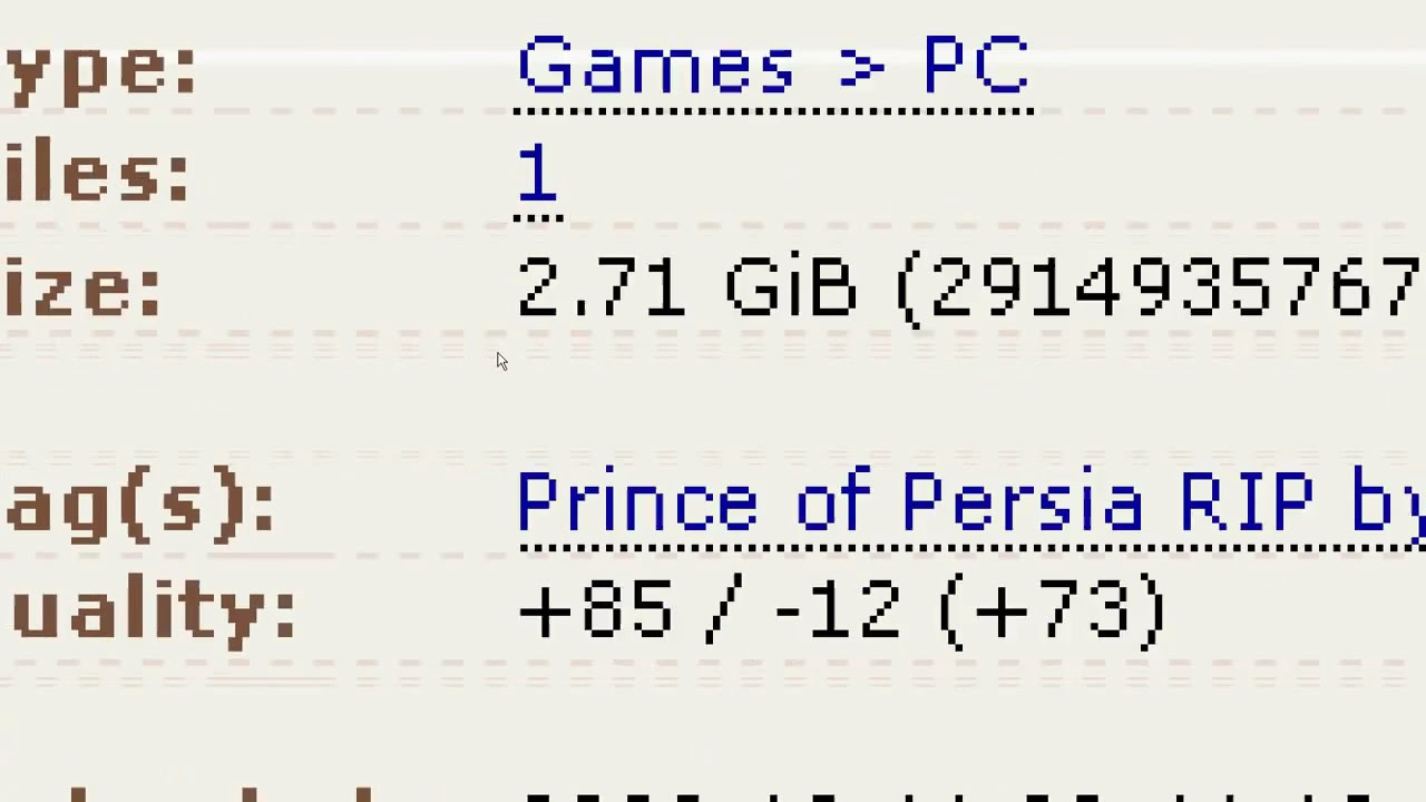 prince of persia 2008 ripped download (torrent) piratebay ...