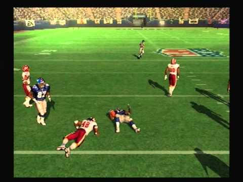 Let's Play Madden 10 ps2 Week 1 Giants vs Redskins