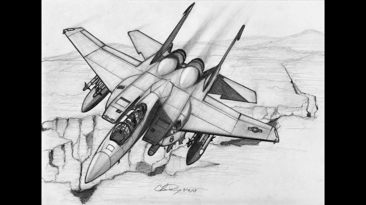how to draw an fighter jet