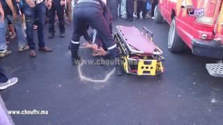 بالفيديو..لحظة نقل الشاب الذي دهسته حافلة وسط مدينة الدارالبيضاء إلى المستشفى |