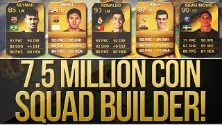 IF 93 RONALDO & IF 90 IBRA! 7.5 MILLION COIN SQUAD BUILDER