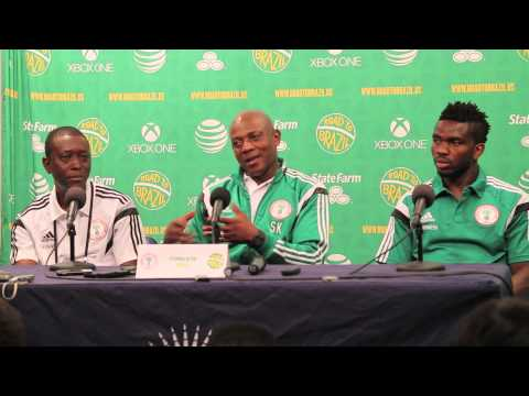 Nigeria v. Greece Post-Match Press Conference with Stephen Keshi