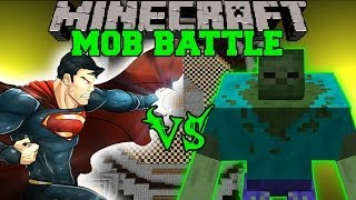MUTANT ZOMBIE VS SUPERMAN Minecraft Mod Battle Mob