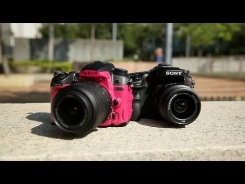 Sony A77 vs Nikon D7000 - Shooting Parkour