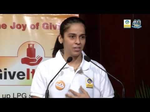 Super Saina at BPCL Give-It-Up campaign for Girl-children in Bengaluru