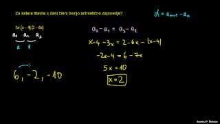 Ugotavljanje števila X za zaporedje