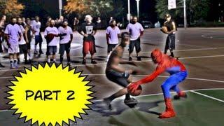Amazing Spiderman Plays Basketball