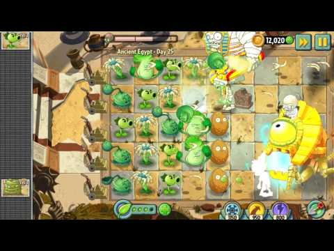 Plants vs Zombies 2 - Ancient Egypt - Day 25