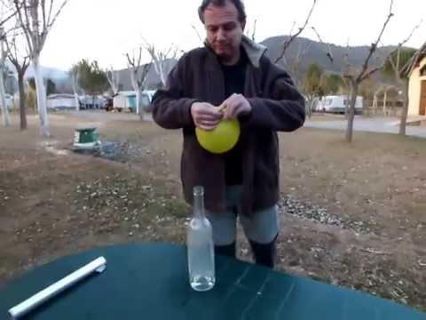 ¿COMO ELEVAR UN GLOBO SIN COMPRAR HELIO? Elevación de un globo lleno de hidrógeno