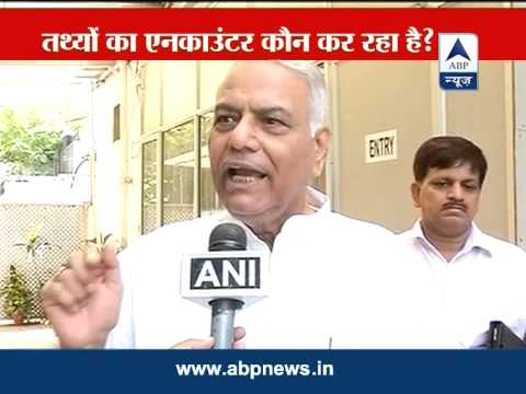 Yashwant Sinha slams Chidambaram for latest stats