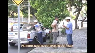 Companhias respons�veis pelo tratamento de �gua fazem patrulha contra desperd�cio