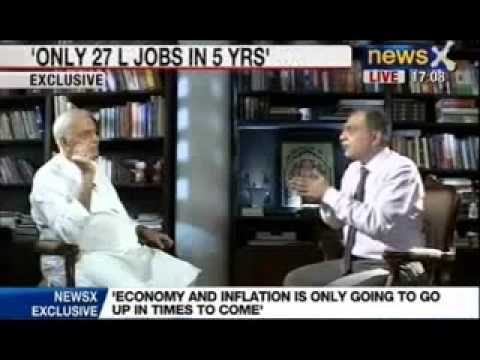 News X Exclusive: Yashwant Sinha speaks to NewsX