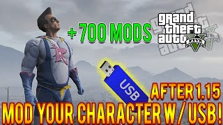 GTA 5 Mods How To Mod Your Character USB Only Tutorial