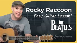 How To Play Rocky Racoon By The Beatles (Song Guitar