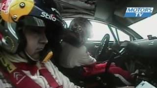 Vid�o WRC Nouvelle-Z�lande 2010, Loeb fait le pont ! par Motors TV (5468 vues)