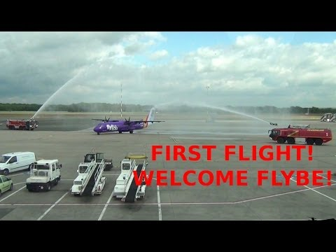 FIRST FLIGHT! Welcome Flybe Aerospatiale ATR-72-212A at Münster/Osnabrück Airport [HD]