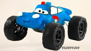 Cars 3 Lightning McQueen PAW PATROL Play Doh Stop Motion video Disney Pixar Cars Toys kids play time