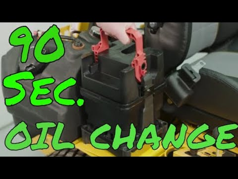 Oil Change In 90 Seconds?!?! AMAZING