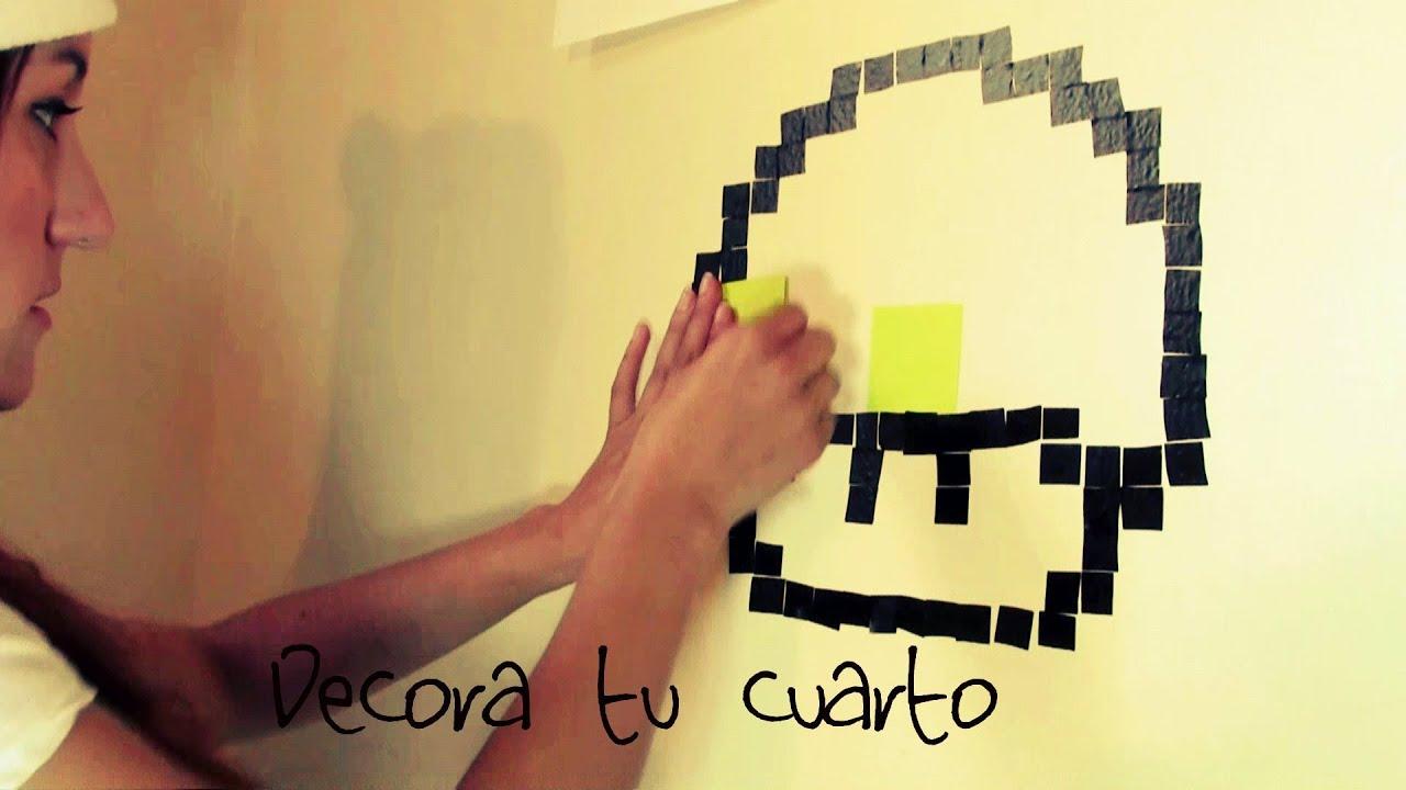 Decora tu cuarto figuras en 8 bits facil youtube for Como hacer decoraciones para tu cuarto