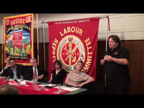 Ian Hodson speaking at the LRC's fringe meeting for Labour Party conference 2013