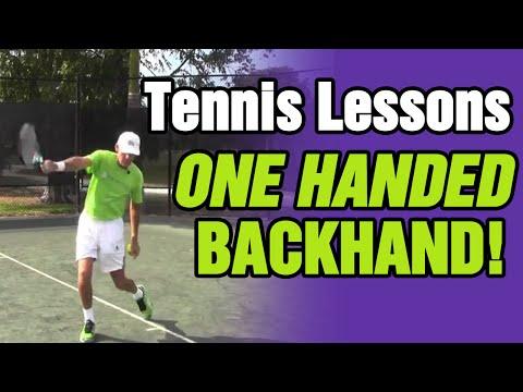 One-Handed Backhand Ahaaa!!!! Moment - TomAveryTennis.com