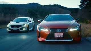 Lexus LC500 vs Honda Civic Type R | Top Gear: Series 25. Watch online.