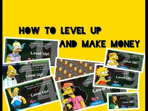 ManbearMoose's Simpsons tapped out - Leveling up tip