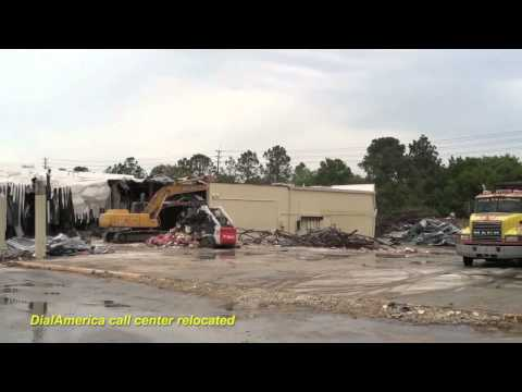 Demolition makes room for new Walmart