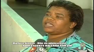 Adolescente � baleado pela PM Alterosa em Alerta 02/03/15