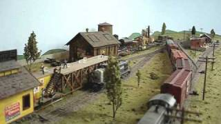HO Scale Model Train Layout Santa Fe In Texas