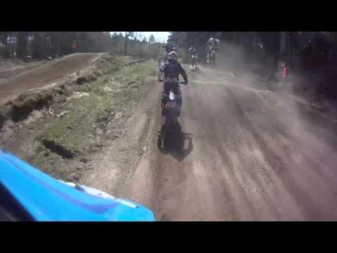 Lytkarino motocross 2014 04 26 race after 30 Vovan yamaha7 250 & Mitia kawa73 450 ch1