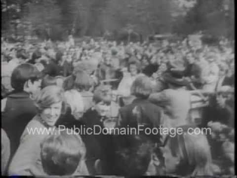 Seattle Be-In 1967 Newsreel Archival Public Domain Footage PublicDomainFootage.com