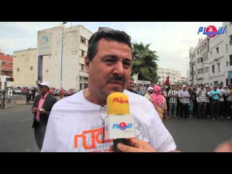 أروع رد من مواطن فلسطيني على المسيرة التضامنية بالدارالبيضاء