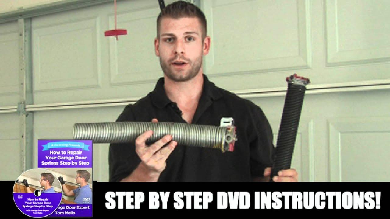 How To Replace Garage Door Spring Youtube