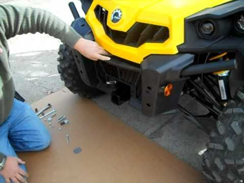 Can Am Commander Winch Mount Install Video YouTube