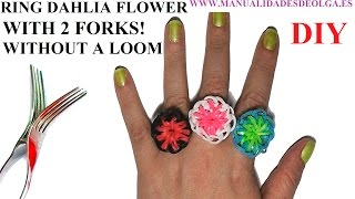 How To Make A Flower Dahlia Ring (EASY) With 2 Forks