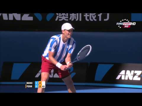 David Ferrer Vs Thomas Berdych Australian Open 2014 1/4 3 Set/Third Set 720 HD